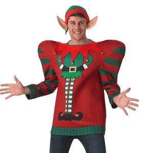 Bredskuldret Alfe Jule Sweater
